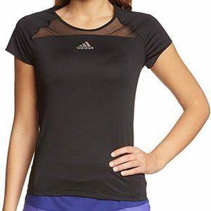 Adidas Zero Adizero Womens L Tennis Shirt Black